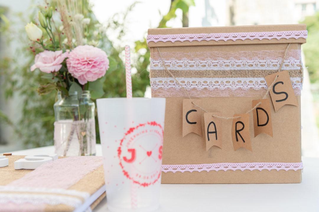 Urne du mariage. Géraldine wedding planner. Wedding planner suisse